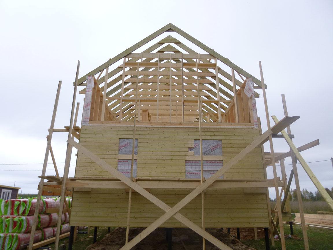 Как самому построить каркасный дом в полтора этажа
